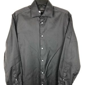 John Varvatos Black Long Sleeve Button Down Shirt